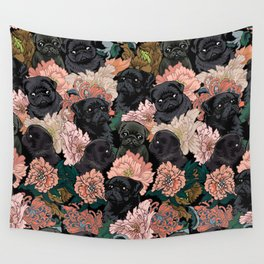 Because Black Pug Wall Tapestry