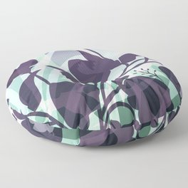 Sassy Sedge - cool colors Floor Pillow