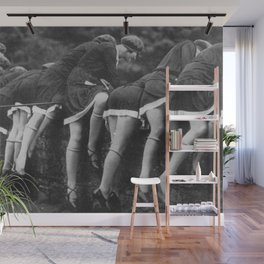 Jazz Age Flappers Head over Heals black and white photograph Wall Mural