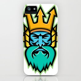 Poseidon Greek God Mascot iPhone Case
