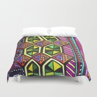 prism Duvet Covers featuring Prism Schism by Katie Anderson Art