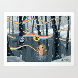I Follow Rainbows Art Print
