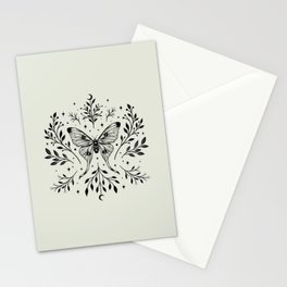 Mystical Luna Moth Stationery Cards