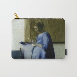Vermeer, woman reading a letter,Mujer leyendo una carta,Brieflezende vrouw, Carry-All Pouch