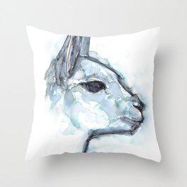 Vicuna Portrait Throw Pillow