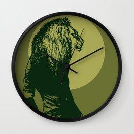 leone pistacchio Wall Clock