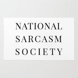 National Sarcasm Society Rug