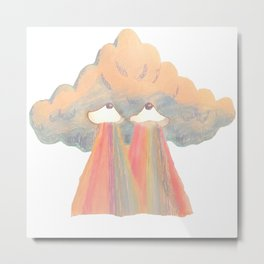Cloud illuminati pink Metal Print