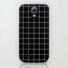 Black White Grid Galaxy S4 Slim Case
