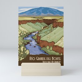 Vintage Poster - Rio Grande del Norte National Monument, New Mexico (2015) Mini Art Print
