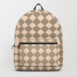 Earthtone square grid pattern Backpack