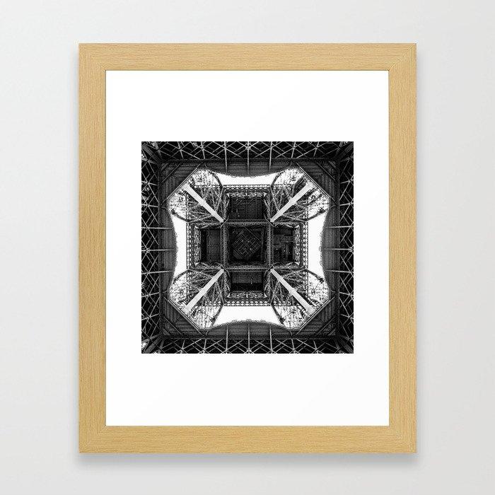 Inside the Eiffel Tower Framed Art Print