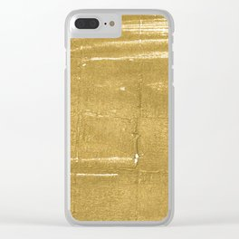 Aztec Gold abstract watercolor Clear iPhone Case