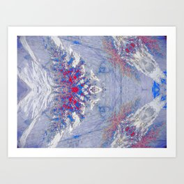 The Wolf (Blue) Art Print