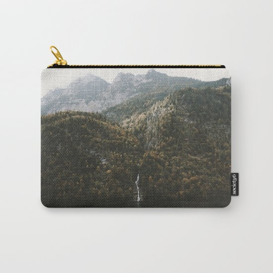 Autumn Waterfall at the Mountain Lake - Landscape Photography Carry-All Pouch