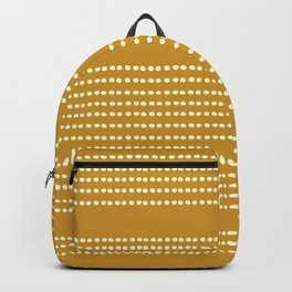 Spotted, Mudcloth, Mustard Yellow, Wall Art Boho Backpack