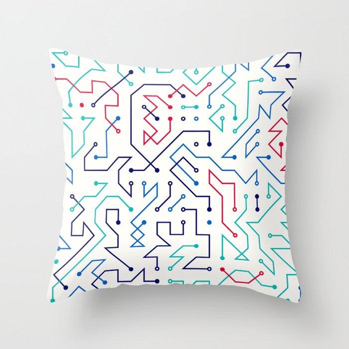 Circuit 1 Throw Pillow