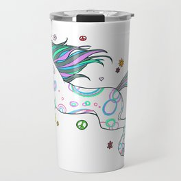 Hippie Horse Travel Mug