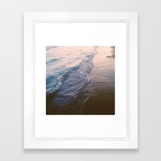 Sunset waves Framed Art Print