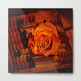 An Abacus and a Rose Metal Print