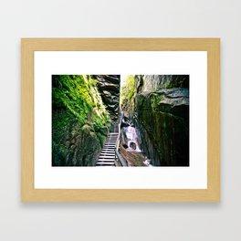 Flume Gorge Framed Art Print