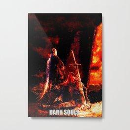 dark souls fire faded Metal Print
