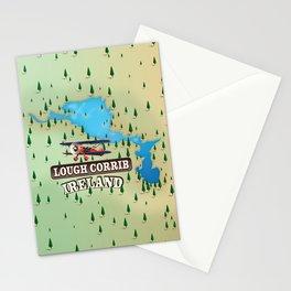 Lough Corrib Ireland map Stationery Cards
