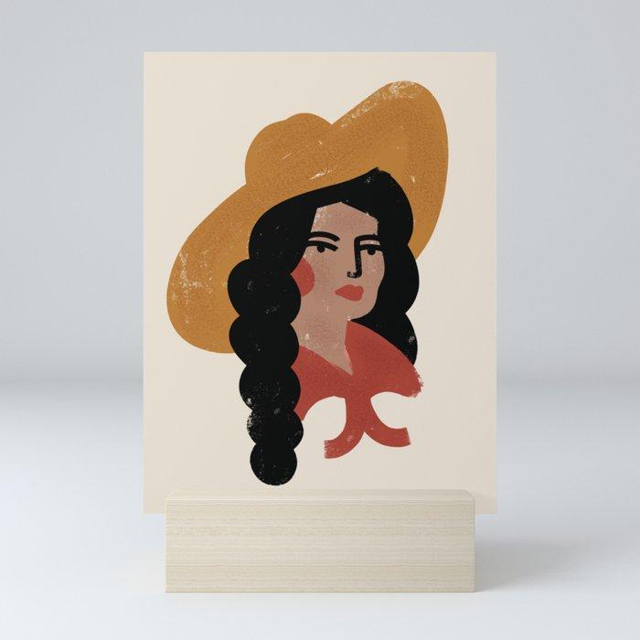 Abstract Cowgirl 2 Mini Art Print