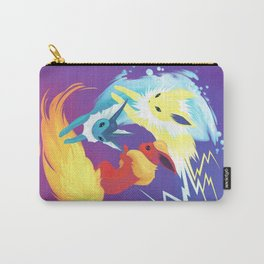 Elemental Trio - Fire Water Lightning Carry-All Pouch