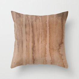 Stains on the old pink wall Throw Pillow