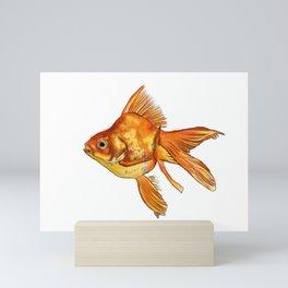 Gold Fish Painting Wall Art Mini Art Print