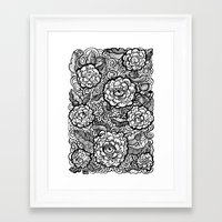 evil eye Framed Art Prints featuring Evil Eye by Emily N3ver