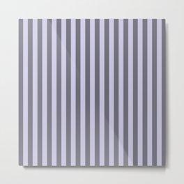 Periwinkle Purple Stripes Pattern Metal Print