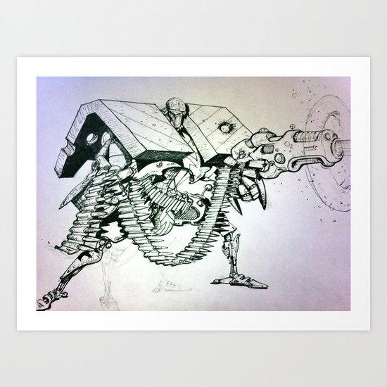 Joe pineapples  Art Print
