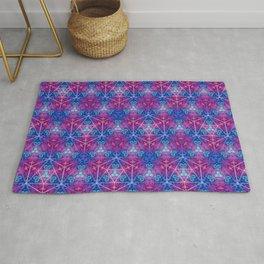 D20 Icosahedron Mandala Pattern Rug