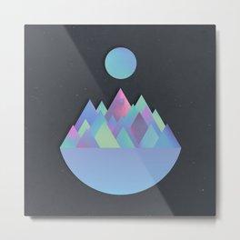 Moon Peaks Alternative Metal Print