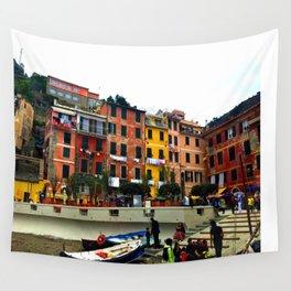 Cinque Terre, Italy Harbor in Riomaggiore/Vernazza Wall Tapestry