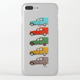 Five Fourgonnettes Clear iPhone Case
