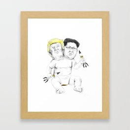 Bad Baby (Donald Trump and Kim Jong Un) Framed Art Print