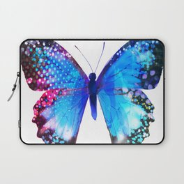 Big Blue Butterfly Laptop Sleeve