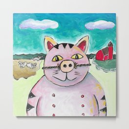 Iowa Cat Metal Print