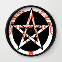 pentagram Wall Clocks featuring Pentagram by Littlefox