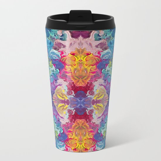Aurora Swirls Metal Travel Mug