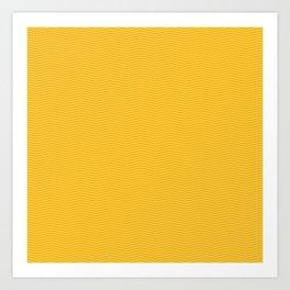 Modern geometrical yellow orange chevron pattern Art Print