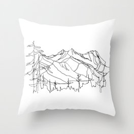 Squamish Summits :: Single Line Throw Pillow