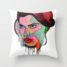 Beauty Fades Throw Pillow