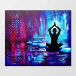 Namaste Yoga Painting Canvas Print