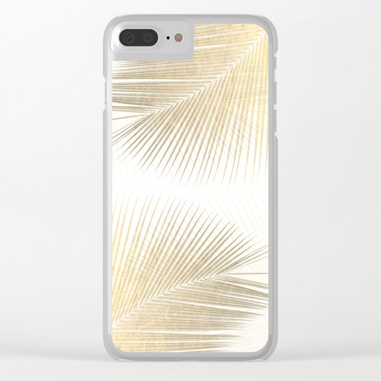 Palm leaf synchronicity - gold Clear iPhone Case