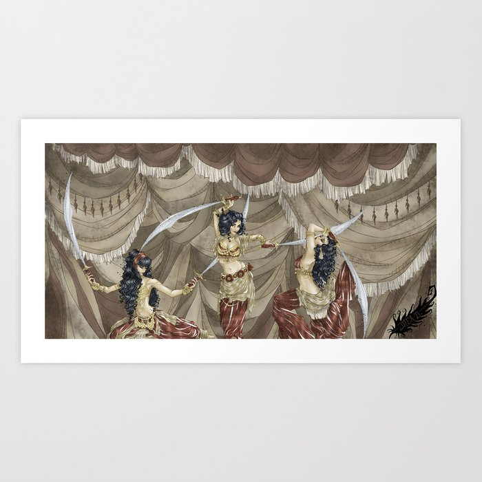Midnight Circus: Sword Dancers Kunstdrucke