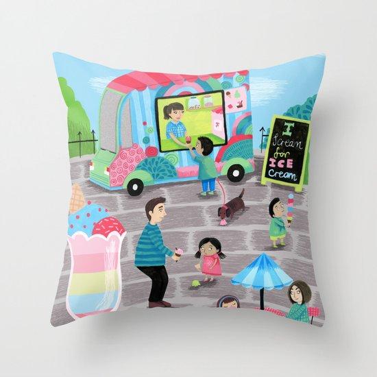 I Scream for Ice Cream Throw Pillow